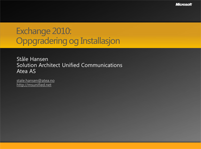 Exchange 2010 – msunified net