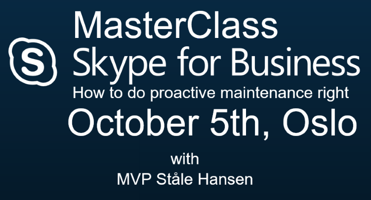 Skype for Business MasterClass